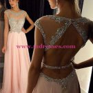 Long Pink Beaded Wedding Party Prom Evening Formal Dresses 49