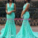Mermaid Lace Long Wedding Party Prom Evening Formal Dresses 52