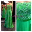 Green Lace Chiffon Long Wedding Party Prom Evening Formal Dresses 55