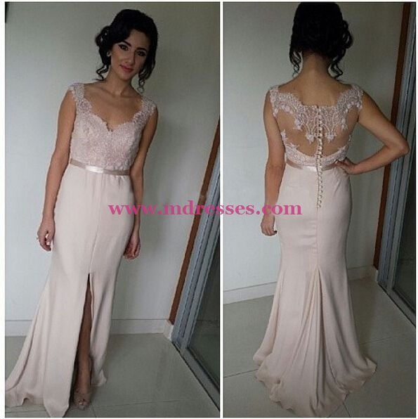 Mermaid Lace Long Wedding Party Prom Evening Formal Dresses 65
