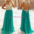 Sheath Beaded Long Wedding Party Prom Evening Formal Dresses 69
