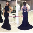 Trumpet/Mermaid Two Pieces Black Prom Evening Formal Dresses 111