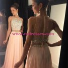 Beaded Two Pieces See Through Long Prom Evening Formal Dresses 115