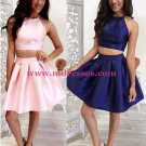 Two Pieces Short Prom Evening Cocktail Homecoming Dresses 116