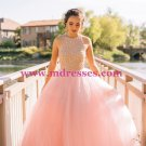 Long Pink Sleeveless Prom Evening Formal Dresses 153