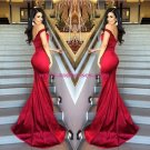 Elegant Red Long Off-the-Shoulder Prom Evening Formal Dresses 172
