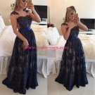 Elegant Beaded Lace Appliques Long Prom Dresses Evening Gowns 217