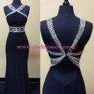 Sheath/Column Beaded Long Prom Dresses Evening Gowns 233