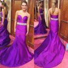 Mermaid Sweetheart Long Purple Prom Dresses Evening Gowns 237