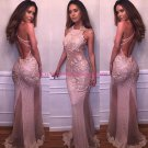 Backless Lace Long Prom Dresses Party Evening Gowns 259