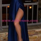 Sexy Long Blue V-Neck Prom Dresses Party Evening Gowns 268