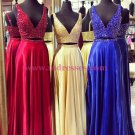 Beaded Two Pieces Long Prom Dresses Party Evening Gowns 302