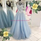 High Neck Long Prom Dresses Party Evening Gowns 348