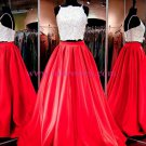 Spaghetti Straps Two Pieces Prom Dresses Party Evening Gowns 358
