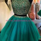 Two Pieces Beaded Short Homecoming Cocktail Prom Dresses 365