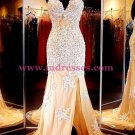 Mermaid Cap Sleeves Lace Long Prom Dresses Party Evening Gowns 377