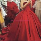 Ball Gown Strapless Long Red Prom Dresses Party Evening Gowns 397