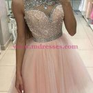 Beaded Short/Mini Tulle Homecoming Cocktail Prom Dresses 422