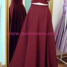 Long Burgundy Spaghetti Straps Prom Dresses Party Evening Gowns 427