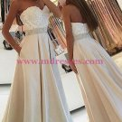 A-Line Sweetheart Beaded Lace Prom Dresses Party Evening Gowns 452