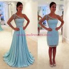 A-Line Beaded One Sleeve Prom Dresses Party Evening Gowns 458