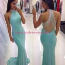 Mermaid Beaded Long Prom Dresses Party Evening Gowns 477
