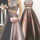 Beaded Two Pieces Prom Dresses Party Evening Gowns 485