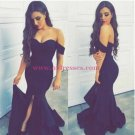 Mermaid Off-the-Shoulder Long Prom Dresses Party Evening Gowns 501