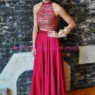 Beaded Two Pieces Long Prom Dresses Party Evening Gowns 509
