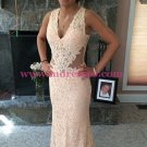 Lace Long V-Neck Prom Dresses Party Evening Gowns 519