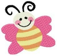 Cute Bugs & Flower Machine Embroidery Designs 4x4 Hoop