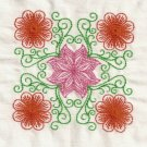 Multi Color Floral Blocks Embroidery Designs 5x7 Hoop