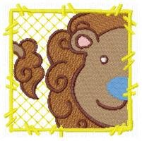 Adorable Zoo Blocks Embroidery Designs 4x4 Hoop