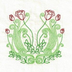 Art Nouveau Floral Embroidery Designs 5x7 Hoop