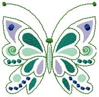 Spring Butterfly Machine Embroidery Designs 4x4 Hoop