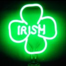 14 x 10 Neon 4 Leaf Clover Shamrock Sign.