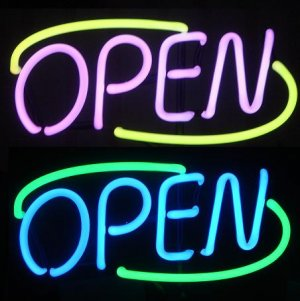 3 in 1 Color Changing OPEN Sign