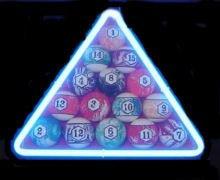 "12"" x 12"" Neon Billiard Pool Sign"