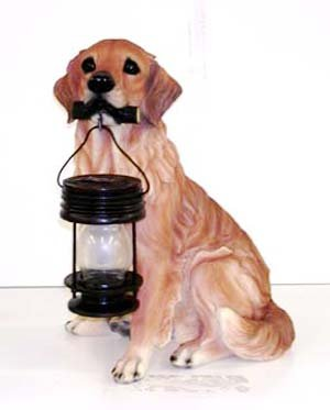 1 Case Solar Lantern Light Golden Retriever