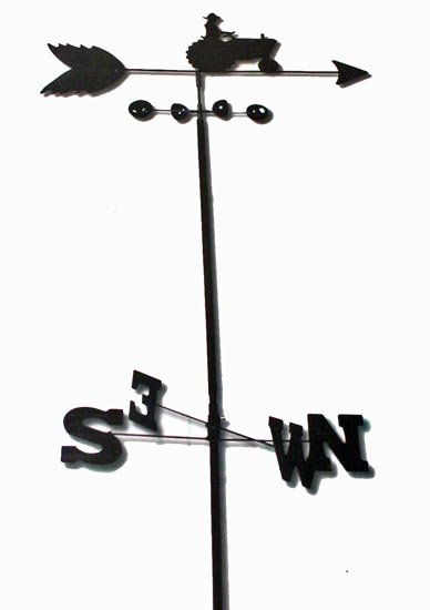 6 Foot WEATHER VANE - Farm Tractor - Garden Decor