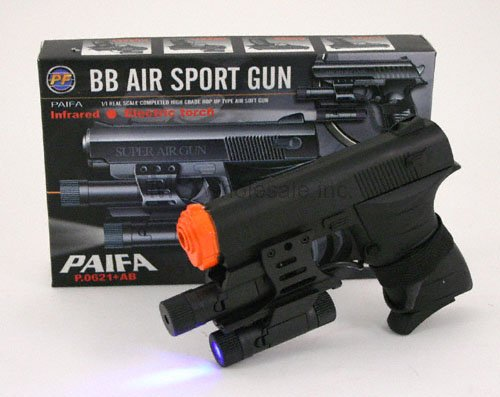 P0621AB Air Soft Pistol w Laser Site&Flash Light