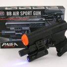 P0621AB Air Soft Pistol w Laser Site&Flash Light