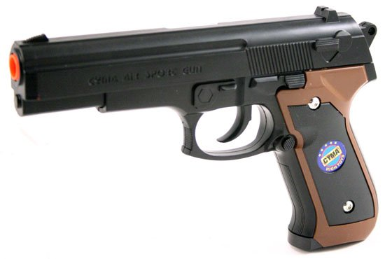 8in Double Action Air Soft Sport Pistol w  Hop-Up