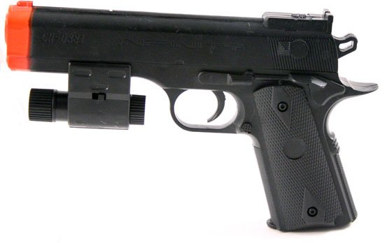 7in Semi Auto Air Soft Pistol w Red Laser Site