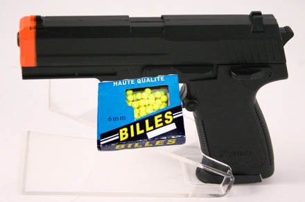 QTY 2 - 6in Airsoft Pistol - Shoots 6mm Pellets