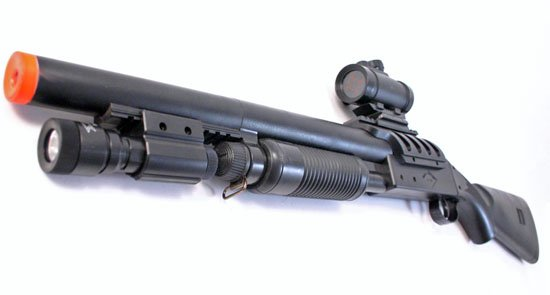 AS117 Airsoft Breaker Shotgun w Hop Up  Laser  Scope  Free Shipping