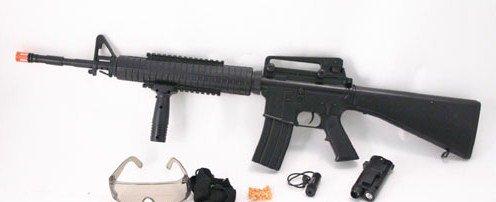 AS52: M16-A2 Air Soft Rifle Gun:Laser Site - FREE Shipping