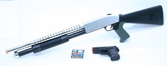 AS55: Air Soft Pump Shotgun  Rifle + Pistol