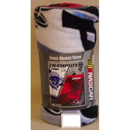 "50"" x 60"" Daytona Dynasty Champions Earnhardt Jr/Sr Fleece Blanket"