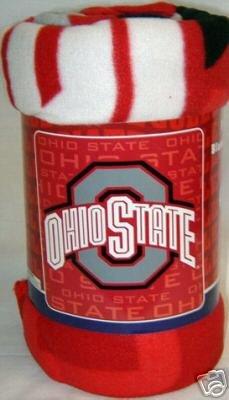 """50"""" x 60"""" Ohio State Buckeyes Fleece Blanket"""